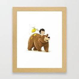 Baloo and Mowgli Framed Art Print