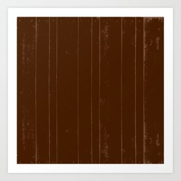 Brown  autumn rustic country chic wood pattern Art Print