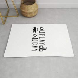 All Play All Day Kids Quote Art Rug