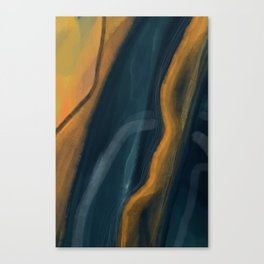 Sunny Forrest Abstract Canvas Print