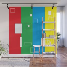 Simple Color Primary Colors Wall Mural