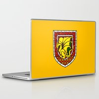 merlin Laptop & iPad Skins featuring Merlin Pendragon Crest by sirwatson