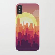 Brooklyn Sunset iPhone X Slim Case