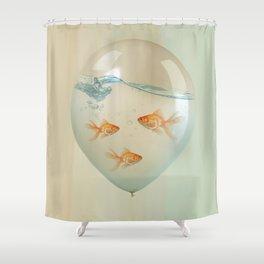 balloon fish 02 Shower Curtain