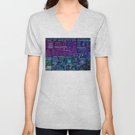 Map of Computer Science Unisex V-Neck