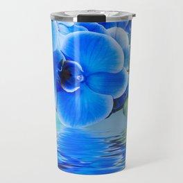 Blue Orchids Travel Mug