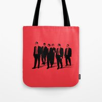 reservoir dogs Tote Bags featuring Reservoir Dogs by Jason Vaughan