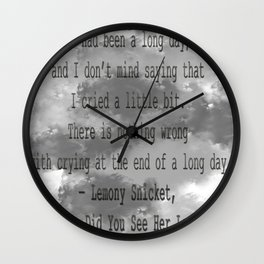 Crying Wall Clock