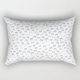Black and White Cat-mouflage Rectangular Pillow