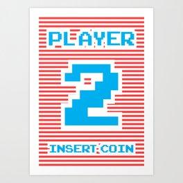 Player 2, gamer t-shirt, gamer poster, Art Print