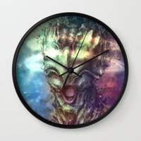 saturn Wall Clocks featuring Saturn by Vincent Vernacatola