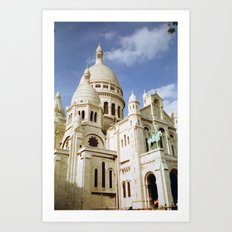 Sacre Coeur, Paris  Art Print
