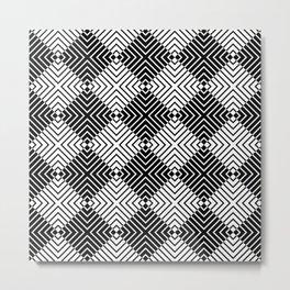 Diamond Stripes Metal Print