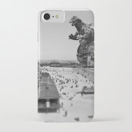 Old Time Godzilla in Atlantic City iPhone Case