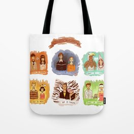 My favorite romantic movie couples Tote Bag