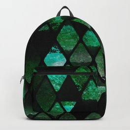 Abstract rhombuses - jungle version Backpack