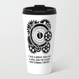 George Orwell - 1984 - Clock Striking 13 Travel Mug