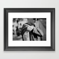 Charlie Brown Holding a Fourty tattoo Framed Art Print