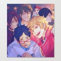 viria Canvas Prints featuring free selfie by viria