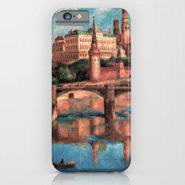 View of the Grand Kremlin Palace, Moscow, Russia by Pavel Sokolov-Skalya iPhone Case
