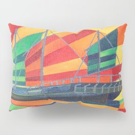 Sail Away Junk Pleasure Boat Pillow Sham