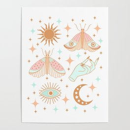 Magical Moths Poster