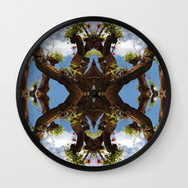 The Floating Sacred Branches (Mandala-esque #130a) Wall Clock