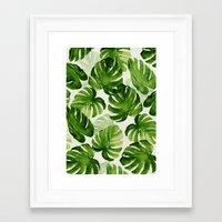 tropical Framed Art Prints featuring TROPICAL by judith van den hoek