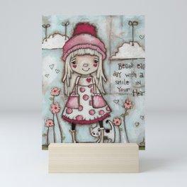 Happy Heart - Motivational Art for Girls Mini Art Print