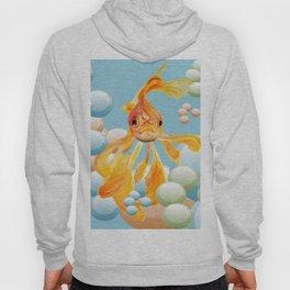 Vermillion Goldfish Blowing Bubbles Hoody