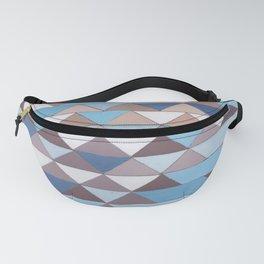 Triangle Pattern No.6 Crisp Blue Fanny Pack