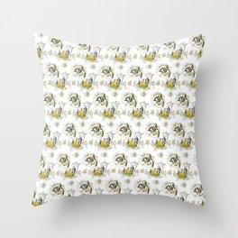 Hufflepuff Toile Throw Pillow