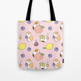 Guinea pig and fruits pattern Tote Bag
