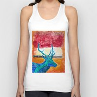 rothko Tank Tops featuring Deer Rothko by winterkl