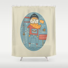Berliner Kind Shower Curtain