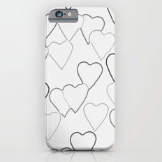 Black and White R Hearts Slim Case iPhone 6s
