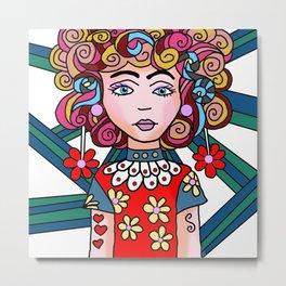 Style Girl - Ruby Metal Print