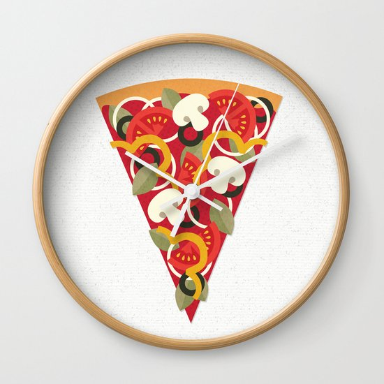 PIZZA POWER - VEGO VERSION Wall Clock