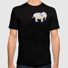 boho elephant MEDIUM Black Mens Fitted Tee