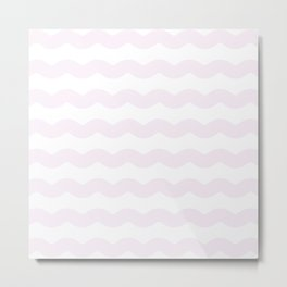 Winter 2019 Color: Pink Cream in Waves Metal Print