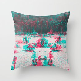 Arpoador Anaglyph Throw Pillow