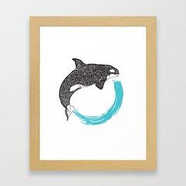 Orca Circle Framed Art Print