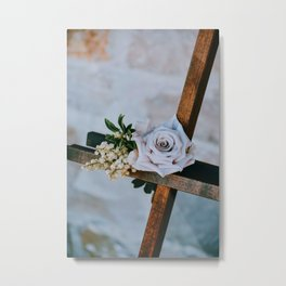 Rose on the Cross (Color) Metal Print