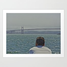 The Golden Gate Man Art Print