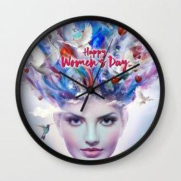 Happy Women's Day Wall Clock