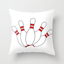 Ten Pin Scattering Throw Pillow