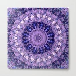 Deluxe lavender indulgence mandala Metal Print