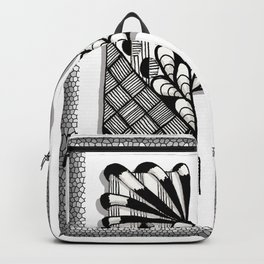 Zentangle H Monogram Alphabet Initials Backpack