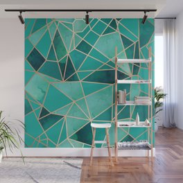 Gemstone Fragmentation Wall Mural