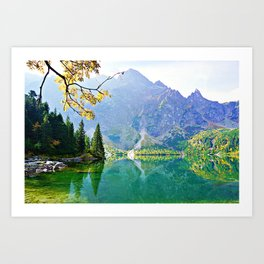 Mountain paradise Art Print